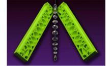 Силиконовый молд 3Д Ожерелье на нитке