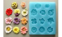 Молд силиконовый маленькие цветочки