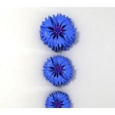 Силиконовый молд 2D цветок Василек 3 шт.