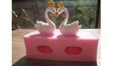 Силиконовый молд 3D Лебеди с короной